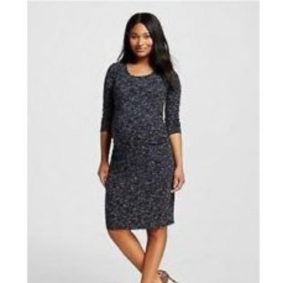 c97365170 LIZ LANGE Space Dye Stretchy Maternity Dress NWT L